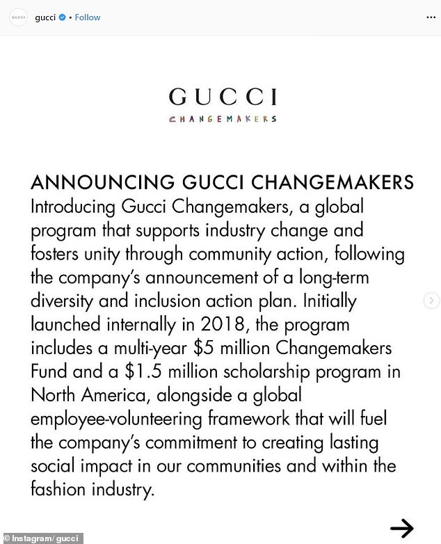 gucci apologising