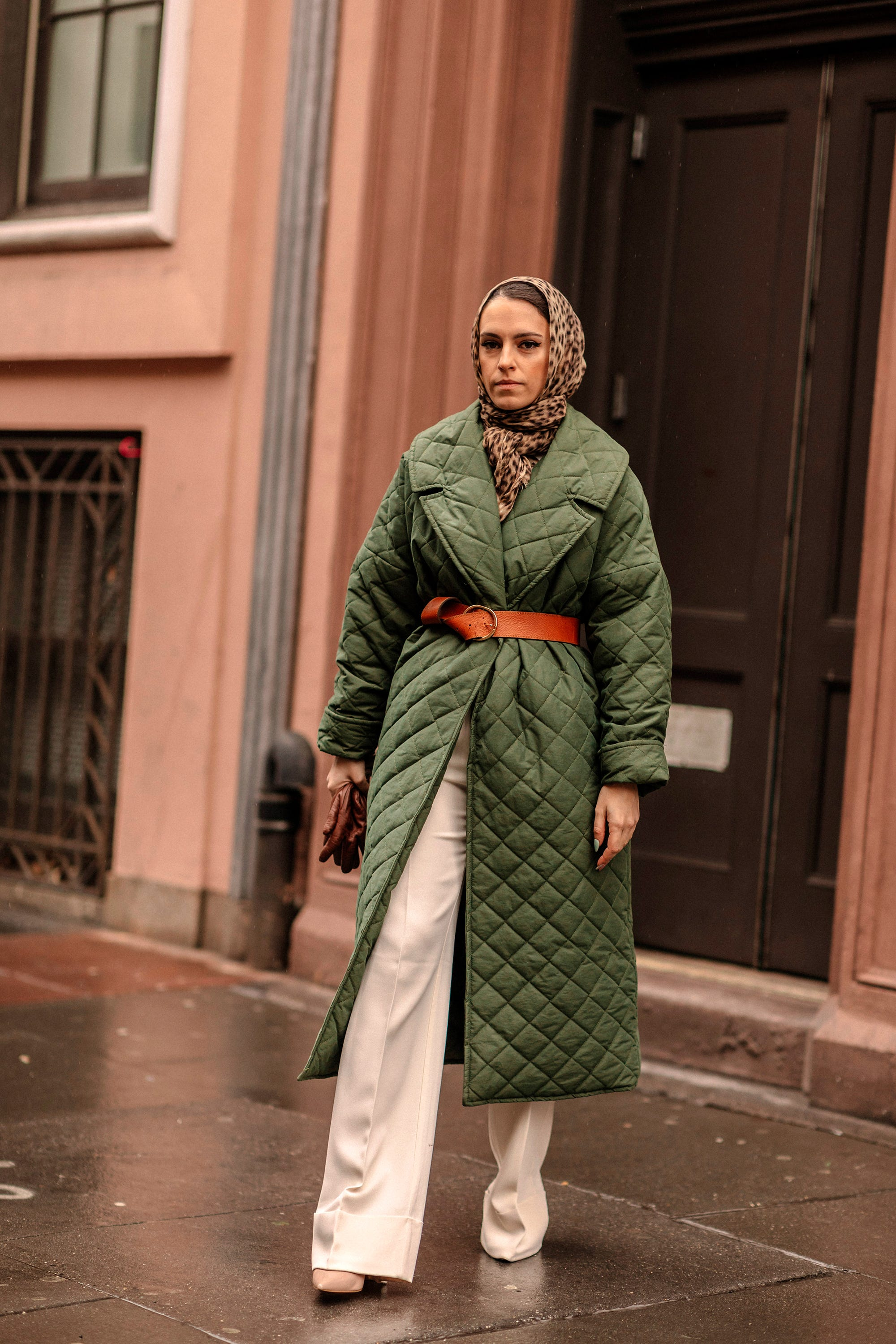 quilted jacket street looks
