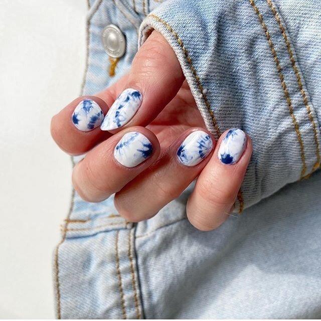 Tie Dye nails 2020